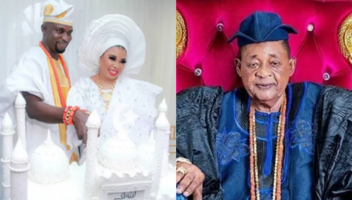 Alafin of Oyo and Lizzy Anjorin