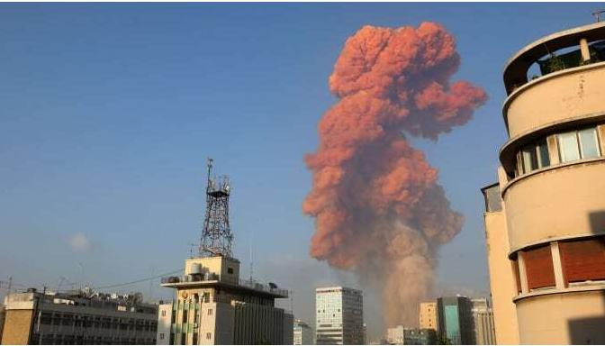 Huge Explosion Hits Beirut, Leaving Several People Injured