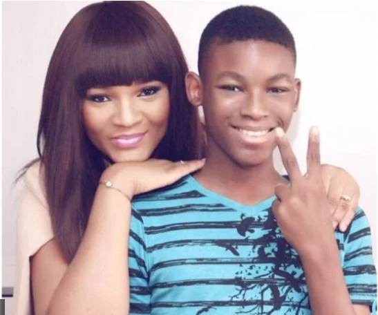 Omotola and son