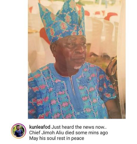Veteran Nigerian actor, Jimoh Aliu is dead