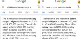Salary in Nigeria