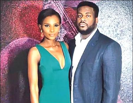 Agbani Darego and husband