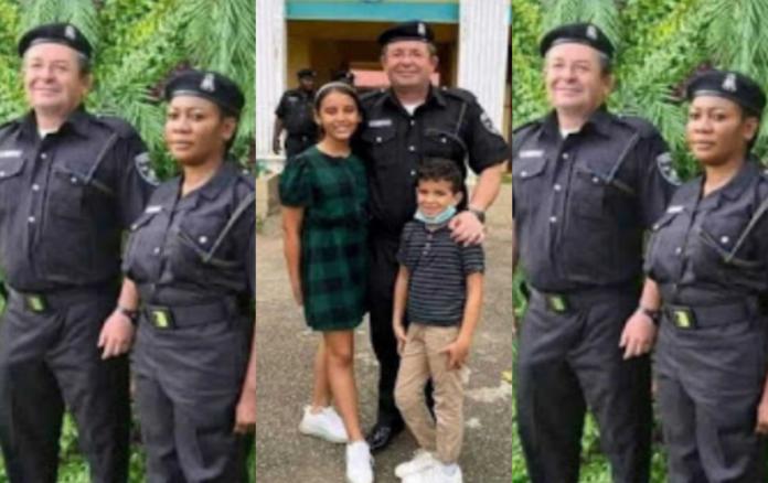 White Nigeria police officer