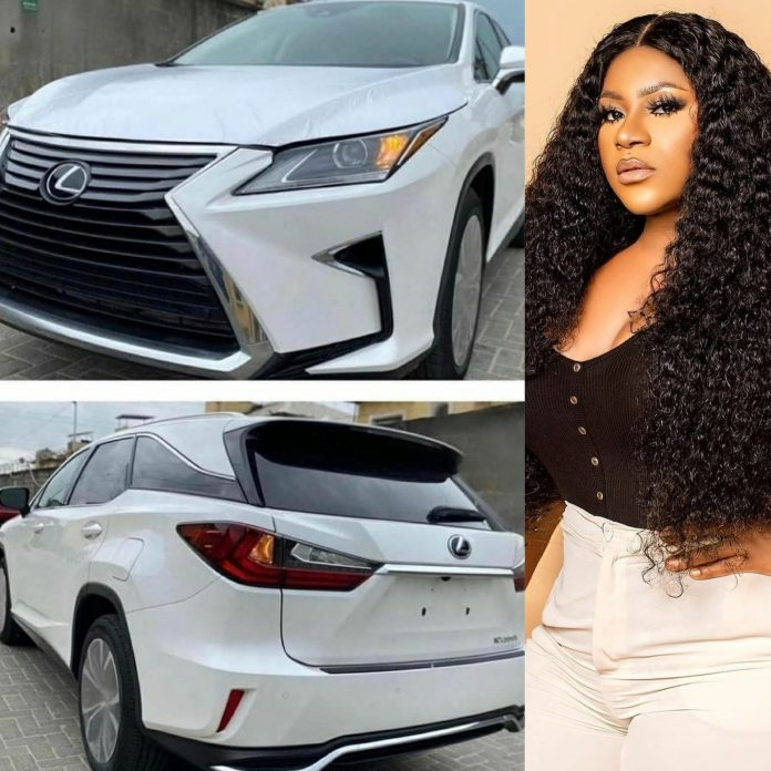 PHOTO: Actress Destiny Etiko acquires another multi-million naira SUV