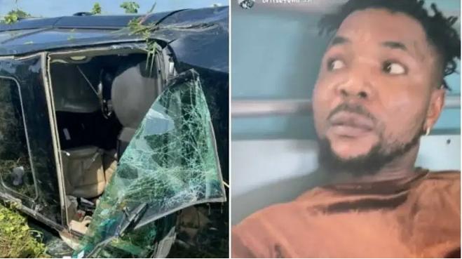 Nigerian singer Oritsefemi hospitalised following car crash in Ogun