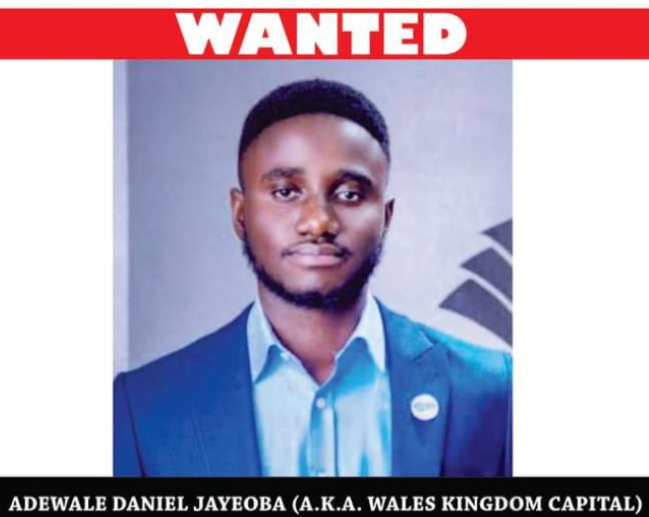 Wales Kingdom Capital: EFCC declares 24-year-old man wanted for N935m investment scam