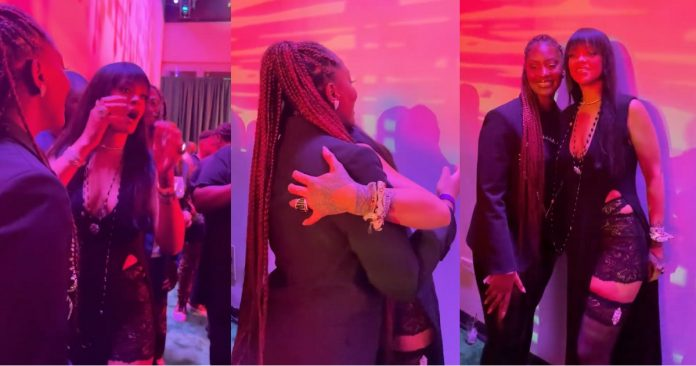 """""""Oh my god"""" – Rihanna screams with joy as she meets Nigerian singer, Tems for the first time"""
