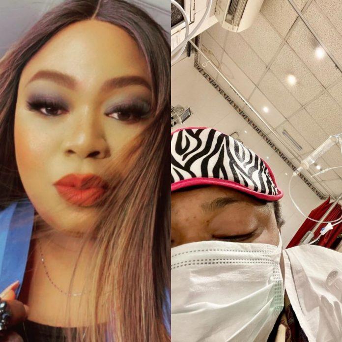 Nigerian Celebrity Matilda Duncan Hospitalized, Asks for Prayers as She Battle Peritonitis