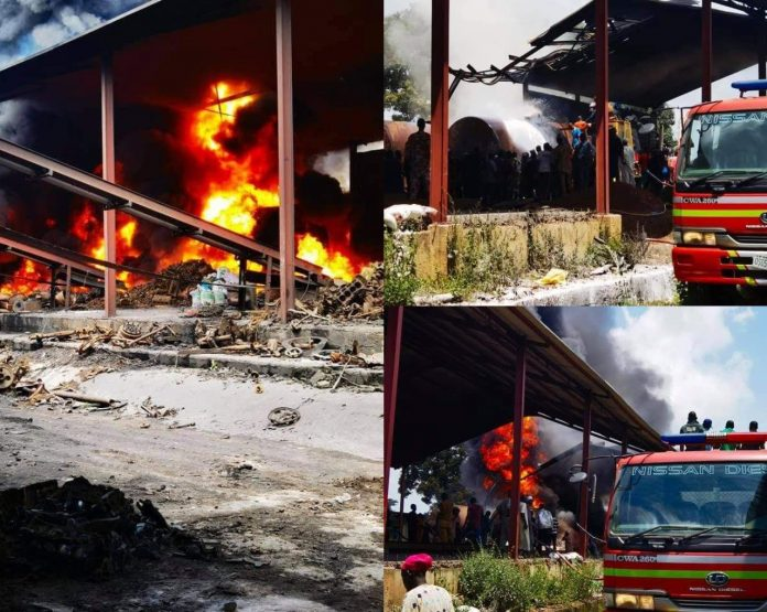 Fire consumes popular factory in Iwo